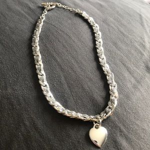 Jewelry - Silver Choker with Heart Pendant